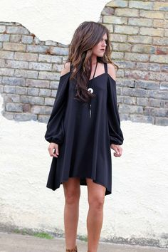 - Casual Cold Shoulder Dress - Raw Edges - Made in America S M L Bust 33 36 39 Waist 47 48 49 Hips 60 64 68 Length 33 34 35