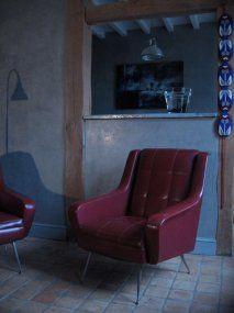 paire de fauteuils vintage mobilier 3615 design