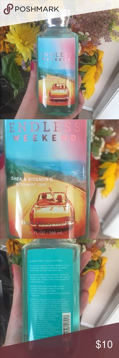 Bath & Body Works Endless Weekend Shower Gel Bath & Body Works Endless Weekend scented shower gel - 10 FL OZ. Brand new and never used/opened. Contains shea butter, Vitamin E, and Aloe Bath & Body Works Other