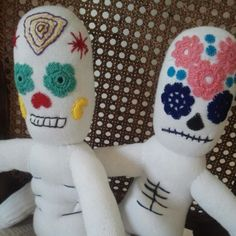 Day of the Dead sock stuffies // #monkeybusiness #handmade