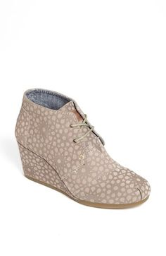 TOMS 'Desert' Bootie (Women) available at #Nordstrom comfy shoe but runs small...love the pattern on neutral color