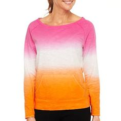 Xersion™ Dip-Dyed Long-Sleeve Pullover - jcpenney