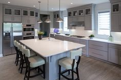 Schumacher Homes Living  GOING GRAY: THE NEWEST NEUTRAL IS THE HOTTEST TREND IN KITCHEN CABINETRY  Read more about it here on our blog: blog.schumacherhomes.com/?p=15290  #schumacherhomes #Kitchen #cabinets #grey #neutral #neutrals #design #interiordesign