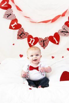 Valentine baby photo