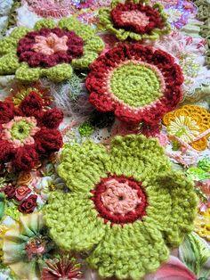crochet flowers, inspiration