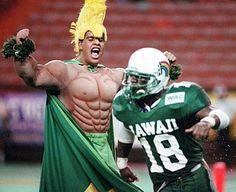 Vintage Uh Rainbow Football Hawaii Rainbow Warriors Rainbow Warrior Warriors Football