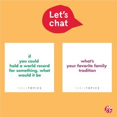 Whether together or apart, share these @TableTopics with your family to inspire fun conversation and discover #thelittlethings that make them extra special.