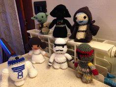 7 Personaggi Star Wars uncinetto