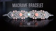 Mirrored Macrame Bracelet with roses and beads Please watch more Macrame…