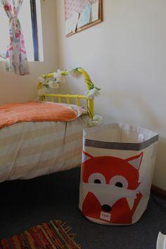 laundry basket for woodland toddler room