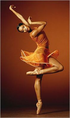 That pose, that glossy skin, that glowing dress! She is gorgeous, and she is Aesha Ash, a dancer for the Alonzo King's Lines Ballet, a San Francisco company. She was in the corps of New York City Ballet but left in 2003; since then, the company has not had a single black dancer.