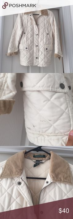 [Ralph Lauren] quilted jacket Worn well - has a stain on one pocket - have had it dry cleaned and couldn't get out. Priced to sell. Similar to Barbour jackets - is an equestrian style jacket. Ralph Lauren Jackets & Coats
