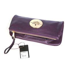673ac8076c Mulberry Women s Daria Leather Clutch Bags Purple Mulberry Clutch Bag