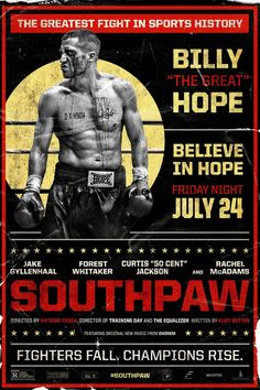 Southpaw Movie Poster by Gravillis, Inc