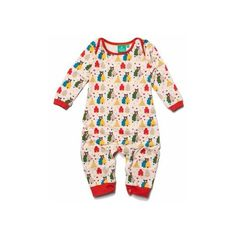 2e0f7cce66 Organic Fairtrade Cotton The Bear Necessities Playsuit via Polyvore  featuring organic baby cloth