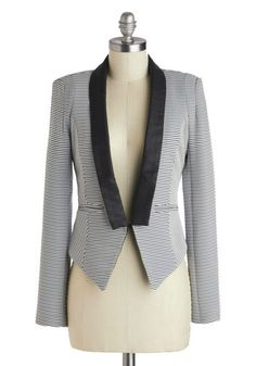 Guest Conductor Blazer, #ModCloth Not crazy about the stripes, but I could ROCK that shape.