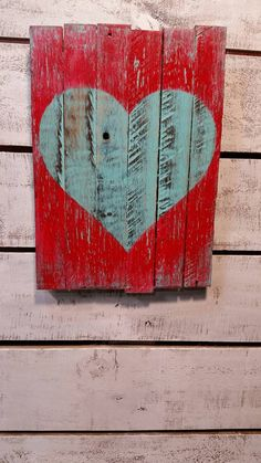 This Heart is loving made by my husband using reclaimed pallet wood and stained using my homemade (nontoxic) stain, hand painted and then Poly added so this sign will last a long time! Hanging hardware is added in the back so you can hang it on your wall or simply lean it on a