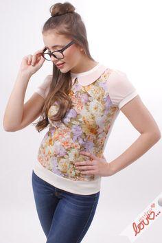 """mydearlove+Shirt+""""Sallie""""-+Hellblau+Regentropfen++von+mydearlove®+-+shop+auf+DaWanda.com"""