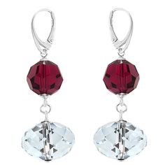 Briolette Earrings - Swarovski® Crystals & Sterling Silver
