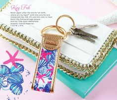 Lilly Pulitzer She She Shells Key Fob Spring 2015 Lifegaurd Press Collection