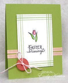 denami tulip easter blessings card by emily keaton bliss paper crafts cards