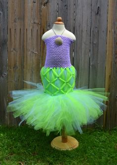 The LITTLE MERMAID ARIEL inspired tutu dress perfect for a Halloween costume, dress up or photo shoot 3 months-6T