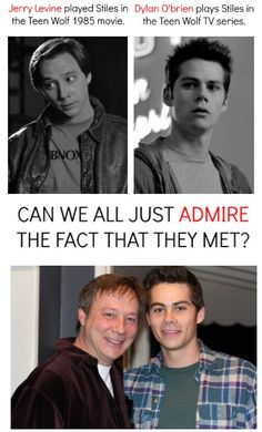 Stiles and Stiles ~~~ this post actually open my eyes that Teen Wolf was a movie first before a tv series 😅 Teen Wolf 1985, Teen Wolf Mtv, Teen Wolf Funny, Teen Wolf Memes, Teen Wolf Dylan, Teen Wolf Stiles, Teen Wolf Cast, Stydia, Sterek