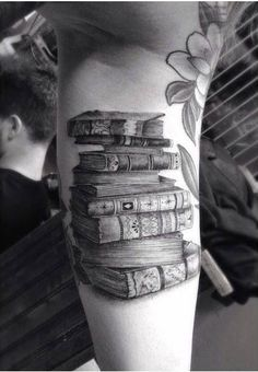 Amazing books tattoo