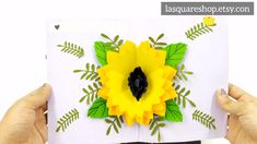 Handmade greeting card idea for holiday, birthday, mom, women. Greeting card for Sunflower lover Pop Up Valentine Cards, Pop Up Cards, Cool Cards, Cards Diy, 3d Cards, Cricut Birthday Cards, Handmade Birthday Cards, Card Birthday, Birthday Greeting Cards Handmade