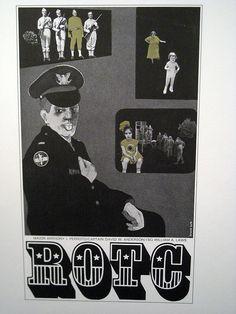 Vintage Pratt Institute Poster ROTC