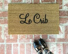 NEW Le Crib Doormat doormats rugs outdoor mat by ShopJosieB Funny Doormats, Babe Cave, Bachelorette Pad, Shops, Apartment Living, Apartment Ideas, Living Room, Girls Apartment, Apartment Essentials