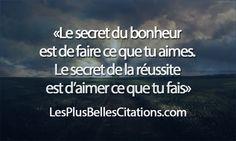 secret bonheur Les Plus Belles Citations