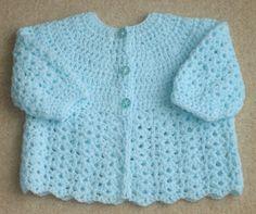 Free Crochet Baby Sweater Patterns   CROCHET MATINEE JACKET   Crochet For Beginners