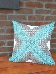 Retro Granny Square Accent Pillow