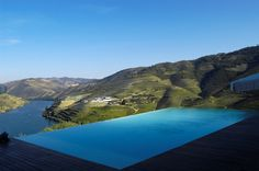 Crasto pool @ Douro Valley (UNESCO World Heritage, home of Port wine) - Portugal Hotels Portugal, Porto Rico, Douro Valley, Port Wine, Luxury Travel, Swimming Pools, Exterior, Vacation, World