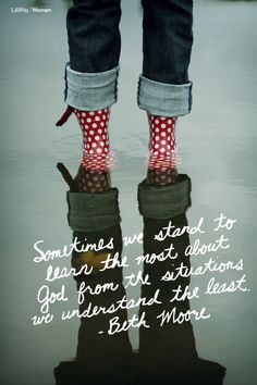 "for All Thursday! ""Sometimes we stand to learn the most about God from the situations we understand the least.""""Sometimes we stand to learn the most about God from the situations we understand the least. Quotable Quotes, Faith Quotes, Bible Quotes, Strong Quotes, Quotes Quotes, Beth Moore Quotes, Daughters Of The King, Walk By Faith, Religious Quotes"