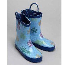 Pluie Pluie Toddler Boys Blue Robot Rain Boots 9 ... #cute #rainboots