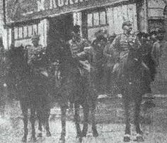 Milytary parade between Ukrainian and kaiser army in Kharkiv,liberated from the bolsheviks(8 april 1918)
