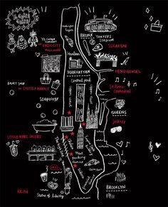 New York map by Naho Ogawa