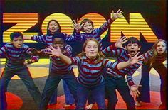 Zoom. 70's PBS show supposedly created by kids. Featured a cast of kids from Boston wearing headache-inducing striped shirts...