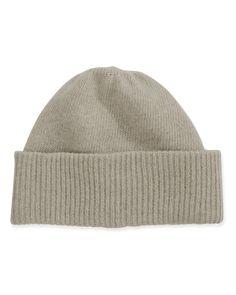 b6a0ea8b Portolano Cashmere Cuffed Beanie Hat, Oatmeal, Women's Oatmeal, Clothing  Accessories, Beanie Hats