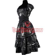 Leonardo Inventions Gothabilly Dress - DR-1338 from Dark Knight Armoury