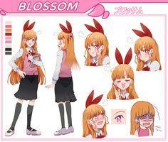 BLOSSOM character sheet by pommiie on DeviantArt Character Sheet, Character Art, Character Design, Character Inspiration, Cartoon Art, Cartoon Characters, Powerpuff Girls Cartoon, Power Puff Girls Z, Super Nana