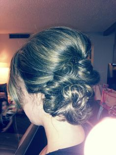 Bridal updo for medium to long hair (www.kenzieandco.com) #hairstyles