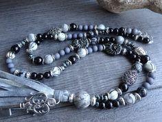 Qasten-Kette Schmuck Perlenkette Handarbeit Halskette | Etsy