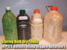 Storing Bulk Dry Foods In PETE Bottles Using Oxygen Absorbers - SHTF, Emergency Preparedness, Survival Prepping, Homesteading