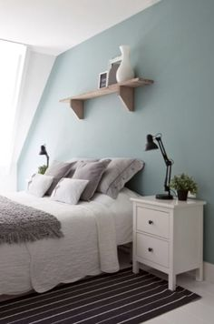 """This soft and soothing bedroom is from our feature"""" Statement of Style"""""""