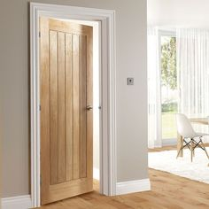 Ely Oak Door, 1/2 Hour Fire Rated, Prefinished. #oakdoor #internaldoor #traditionaldoor