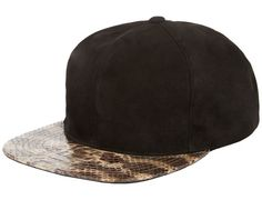 Suede Python Strapback Cap by JUST DON