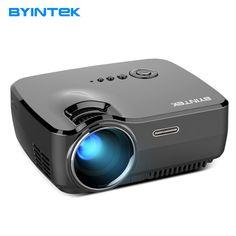 Projector BYINTEK SKY GP70 2018 Hottest Portable Led Projector HD Pico USB HDMI LCD cinema LED Mini Video Digital Home Theater